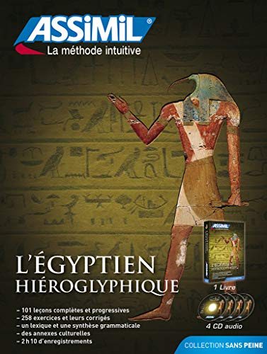 9782700517804: Pack CD Egyptien Hieroglyphique (livre + 4 CD audio) (French Edition)