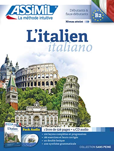 9782700518030: L'italien. Con 4 CD Audio: 1 (Senza sforzo)