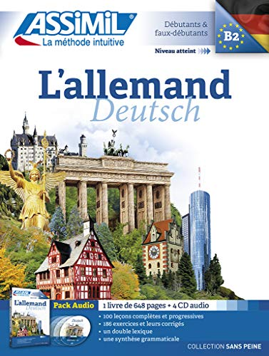 9782700518061: L' Allemand sans Peine [ German for French Speakers ] Book + 4 Audio CD's (German Edition)