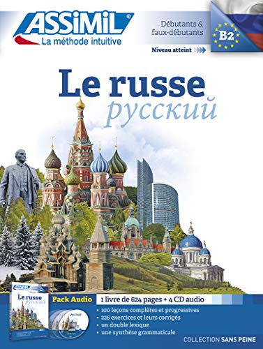 9782700518078: Le Russe sans Peine [ Russian for French Speakers ] Book + 4 Audio CD's (Russian Edition)