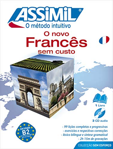 9782700520040: Assimil Pack: O Novo Frances sem Custo ; French for Portuguese speakers Book+4CD's (French Edition)