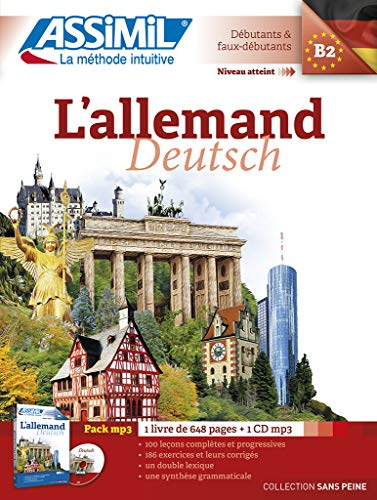 9782700570724: L' Allemand sans Peine [ German for French Speakers ] Book + 1 CD MP3 (German Edition)