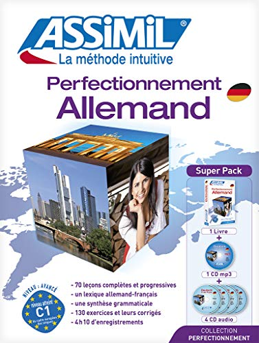 9782700580310: Perfectionnement Allemand niveau confirmes - learn advanced German for French speakers (Book+4 audio CD's+1CD MP3) (German Edition) (French Edition)
