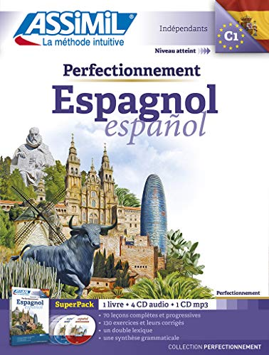 9782700580655: Assimil Superpack Perfectionnement Espagnol (livre + 4 CD audio + 1CD MP3) [ advanced Spanish for French speakers ] (Spanish Edition)