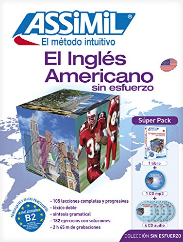 9782700580679: Método ASSIMIL - El Inglés Americano - Superpack (1 libro + 1 CD mp3 + 4 CDs audio) - [ American English for Spanish speakers ]