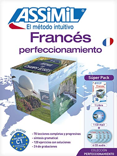9782700580693: Metodo ASSIMIL - Francés Perfeccionamiento - Superpack (1 libro + 1 CD mp3 + 4 CD audio) [ advanced French for Spanish speakers] (French Edition)