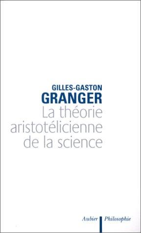 9782700700459: La théorie aristotélicienne de la science (Collection Analyse et raisons ; 22) (French Edition)