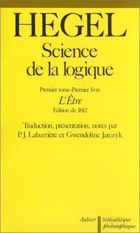 9782700702163: SCIENCE DE LA LOGIQUE