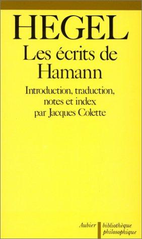 9782700702200: Les Écrits de Hamann