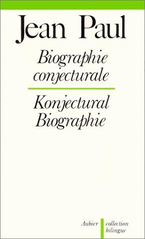 9782700702637: Biographie conjecturale : 1799