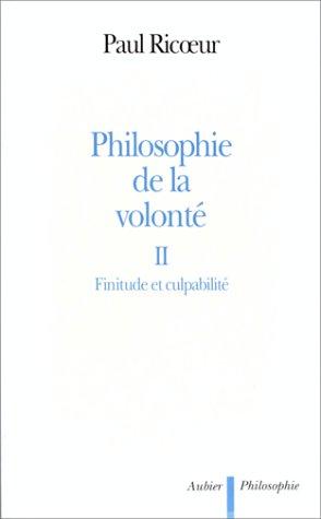 9782700731033: Philosophie de la volont�, tome 2 : Finitude et Culpabilit�