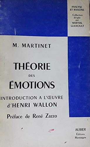 9782700733150: THEORIE DES EMOTIONS INTRODUCTION A L'OEUVRE