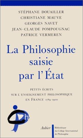 9782700734706: La Philosophie saisie par l'Etat