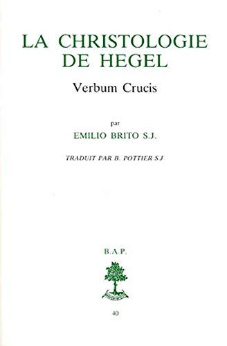 9782701010564: La christologie de Hegel : Verbum Crucis