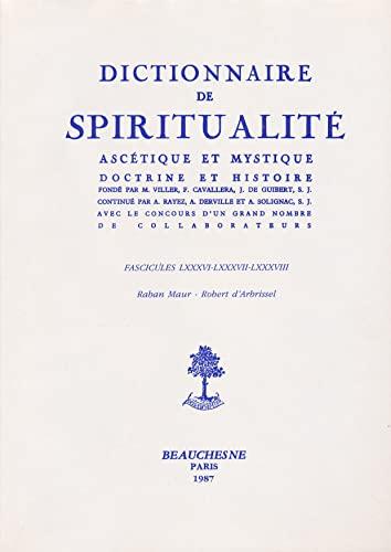 9782701011080: Dictionnaire de spiritualité ascétique et mystique -Doctrine et histoire -Fascicules LXXX-LXXXI-LXXXII