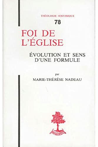 Foi de l'Eglise: Nadeau, Marie-Thérèse