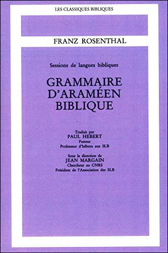 9782701011783: Grammaire d'araméen biblique