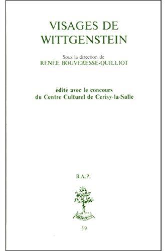 9782701013244: Visages de Wittgenstein (Bibliothèque des Archives de philosophie) (French Edition)