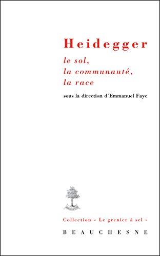 9782701016320: Heidegger, le Sol, la Communaute, la Race