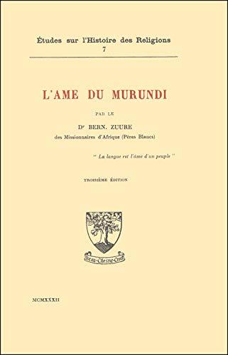 9782701020396: L'Ame du Murundi