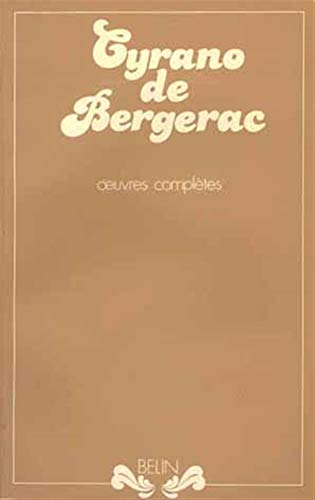 OEuvres completes (French Edition) (2701102960) by Cyrano de Bergerac