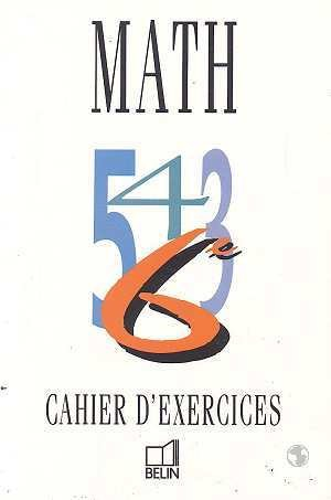 Math 6e cahier d'exercices
