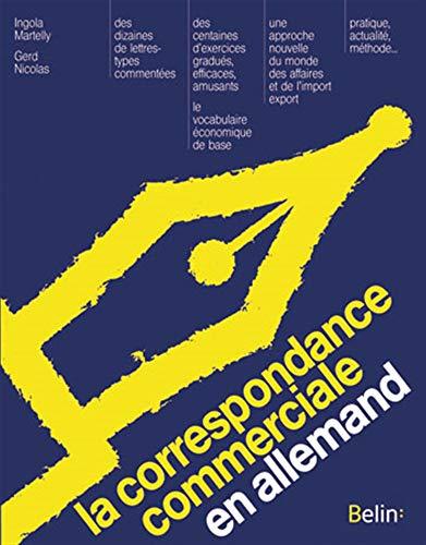 CORRESPONDANCE COMMERCIALE ALLEMANDE: NICOLAS