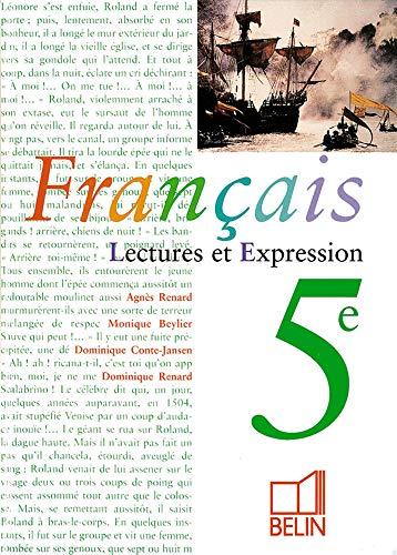 9782701122137 Francais 5eme Lecture Et Expression