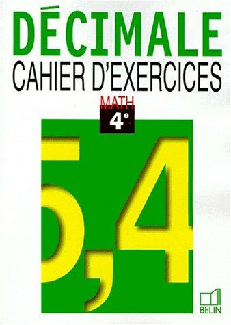 9782701122908: Math 4e 98 - cahier d'exercices