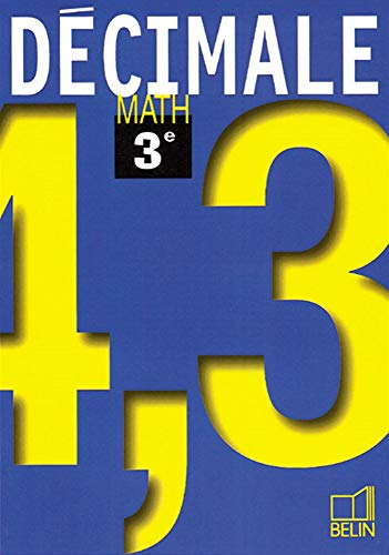 9782701124889: Math 3e - livre de l'élève