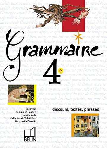 9782701131450 Grammaire 4eme Discours Textes Phrases
