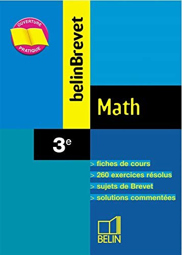 9782701134246: BelinBrevet : Math, 3e