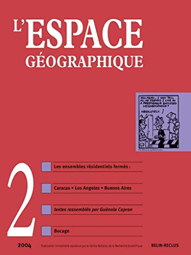 9782701137315: Revue Espace geographique n°2 2004 (French Edition)