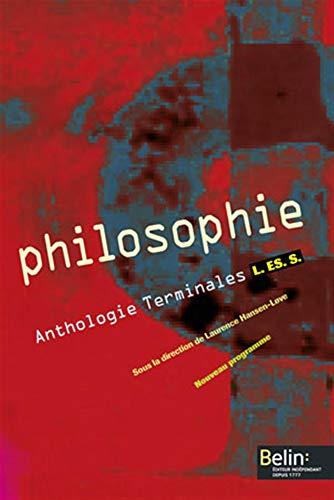 9782701137872: Philosophie Anthologie Tles L-ES-S