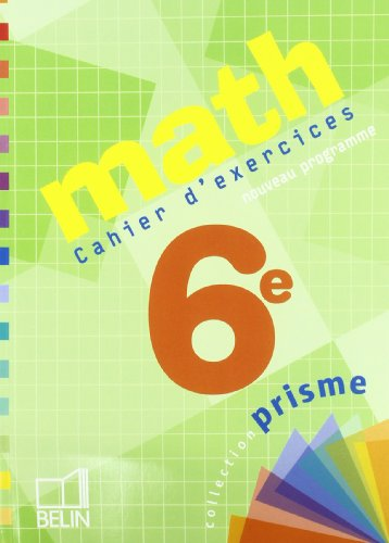 Math 6e : Cahier d'exercices: Pierre Deu