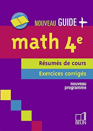 9782701145488: Maths 4e : Résumés de cours, exercices corrigés