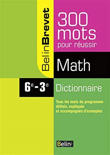 9782701149110: Dictionnaire Math 6e-3e (French Edition)