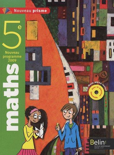 9782701154961: Nouveau Prisme Maths 5e (French Edition)