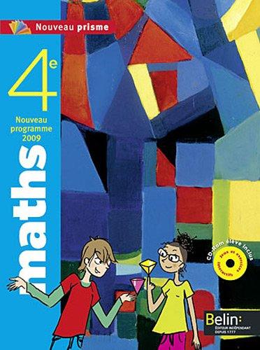 9782701157603: Math 4e 2011 eleve / CD pf (Nouveau Prisme)