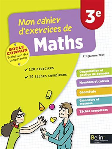 9782701165691: Mon cahier d'exercices de maths 3e