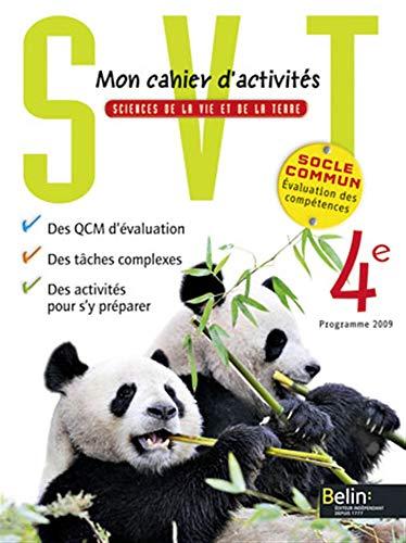 9782701165707: Sciences de la Vie et de la Terre 4e : Mon cahiers d'activit�s