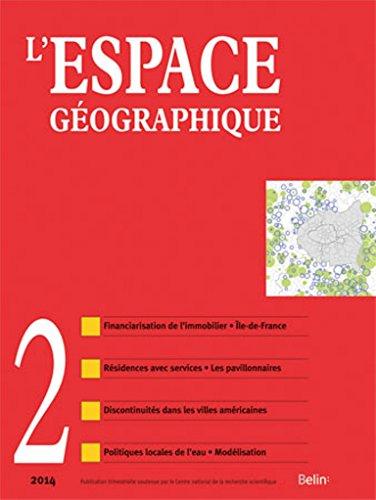 9782701190662: L'Espace Géographique n° 2 : juin 2014