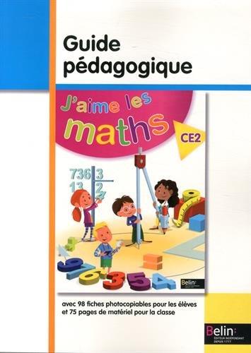 9782701192048: J'aime les maths CE2 : Guide pédagogique