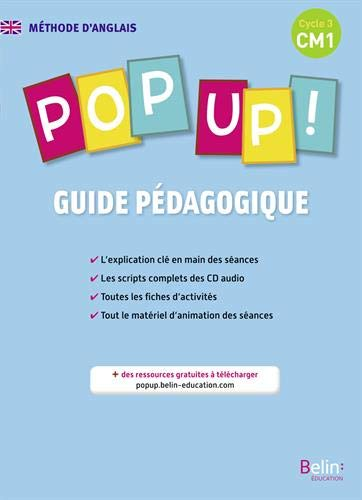 9782701192468: Pop up ! CM1 - Livre du professeur