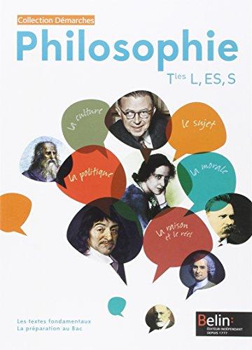 9782701193816: Philosophie terminales L, Es, S : Livre de l'élève