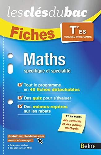 MATHS TLE ES: FICHES NED 2016