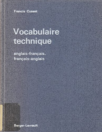 9782701301075: Vocabulaire technique : anglais-français, français-anglais, mécanique, metallurgie, industries extra