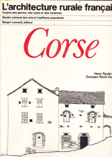 9782701301617: Corse (L'Architecture rurale francaise) (French Edition)