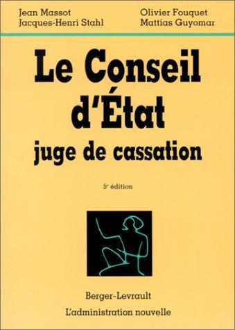 9782701313351: Le Conseil d'Etat juge de cassation
