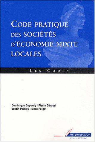 9782701314365: Code pratique des sociétés d'économie mixte locales